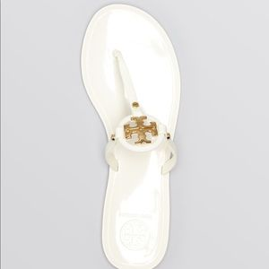 Tory Burch White Jelly Sandals